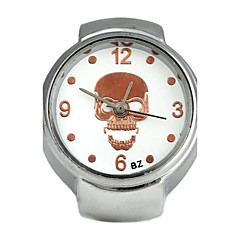 Unisex Skull-Shaped Round Dial Alloy Quartz Ring Watch White K (1Pc,Assorted Colors)