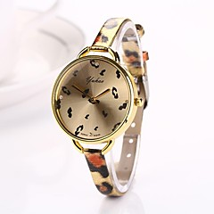 Women Big Circle Dial  Leopard Thin Brand Luxury Lady Watch C&D-285