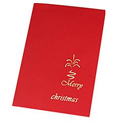 3d maison de papier découpé et l'arbre cartes de Noël