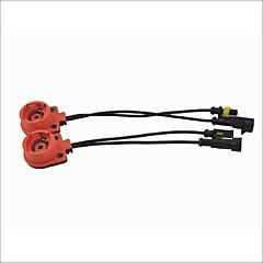 tipo fino cabo adaptador de tomada hid lâmpada lastro conversor couraça para d2 / d4 (2pcs)