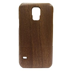 Kyuet Wooden Case Natural Handcrafted Sapele Wood Shell Cover Skin Cell Phone Case for Samsung Galaxy S5