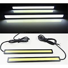 2pcs 17 centímetros 6w 600-700lm luz de circulação diurna cor amarela alta potência cob DRL impermeável luz IP68 (12v)