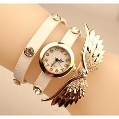 """kvinnenes 2015 den siste """"engel vinger"""" mote skinn japanese kvarts watch (assorterte farger)"""