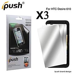 grande transparence protecteur d'écran lcd miroir pour HTC Desire 610 (3 pièces)