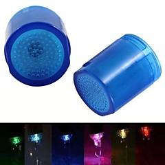 8001-a8 snygg vattenström färgglada lysande LED-ljus kran ljus (plast)
