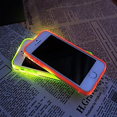 New TPU LED Reminder Flash Transparent Back  Cover Case for iPhone 5/5S (Assorted color)