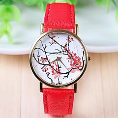 женская мода стиль кожаный ремешок кварцевые аналоговые наручные часы (разных цветов)