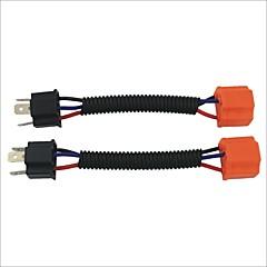 자동차 헤드 램프 / foglight에 대한 여성 와이어 하네스 소켓 확장 케이블에 H4 남성 (2PCS)