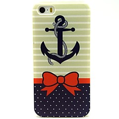 Bow Anchor Pattern PU Leather Full Body Case with Card Slot and Stand for iPhone 5/5S