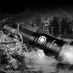 LED taskulamput / Käsivalaisimet LED 5 Tila 860 Lumenia Säädettävä fokus / Vedenkestävä / ladattava / Iskunkestävä 18650