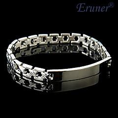 Eruner®Men's Stainless Steel High Polish Medical ID Bracelet