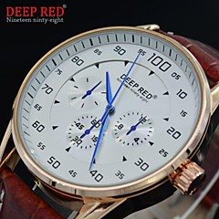 Men's Quartz Watches Fashion Round Dial Dress Wristwatches Waterproof Sports Watch (Assorted Colors)