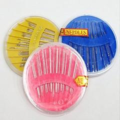 바늘 패키지 디스크 바늘 손수 홈 가정용 재봉 키트 상자 바느질-에 바늘 DIY 도구 (색상 랜덤)