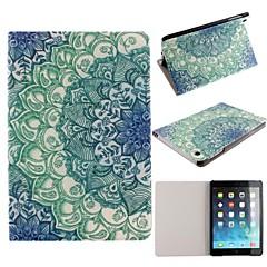 ultra-mince tension lumineuse lotus bleu cuir PU cas complète du corps avec support pour iPad mini-1/2/3