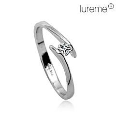 krystal diamant indlagt æstetisk ring