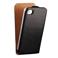 Genuine Leather Flip Case for iPhone 4/4S(Assorted Colors)