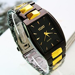 Men's Square Dial Alloy Band Quartz Fashion Watch (Assorted Colors)