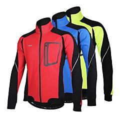 ARSUXEO® Cycling Jacket Men's Long Sleeve BikeBreathable / Thermal / Warm / Windproof / Anatomic Design / Fleece Lining / Reflective