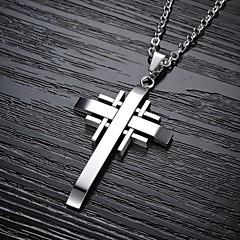 Cool Classic  Cross Titanium Steel Man Necklace