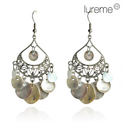 Lureme®Water Droplet Shell Earrings