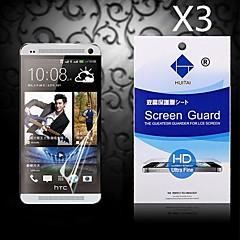 hd protezione dello schermo di polvere-absorber per htc uno / M7 (3 pc)