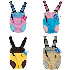 mãe mochila couro de canguru macio para cães e animais de estimação (cores sortidas e tamanhos)