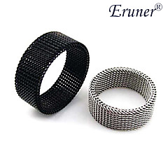 eruner®titanium stål 4mm smal netty transmutable ring