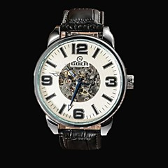 Men's Skeleton Dial  Leather Strap Automatic Mechanical  Watch(Assorted Colors) Cool Watch Unique Watch Fashion Watch