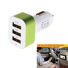 New Powerfully Charging Series 5.1A 3 USB Car Charger Adapter