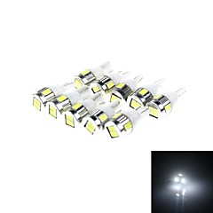 T10 3W 180lm 6 x SMD 5730 LED White Light Car Lamp - (DC 12V / 10 PCS)