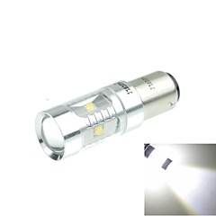 1157 (P21/5W Ba15d) 30W 6xCREE Cold White 2100LM 6500K for Car Brake Light (AC/DC12V-24)