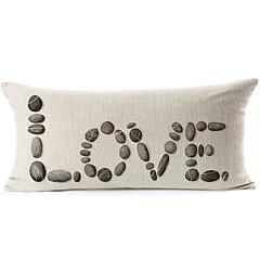 """cobblestoned """"liefde"""" patroon van katoen / linnen decoratieve kussensloop"""