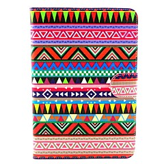 Tribal Tattoo Pattern PU Leather Full Body Case with Stand for iPad mini 1/2/3