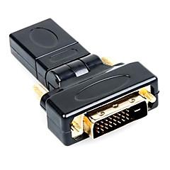 360degree αρσενικό DVI σε HDMI θηλυκό υψηλής quailty χρυσό-πλάκα HD HDMI v1.4 προσαρμογέα σύνδεσης με υπολογιστή