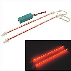 carking ™ 12v carro auto comprimento 30 centímetros decoração neon luz luz vermelha