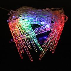 Small Icicles 5M 4.8W Christmas Flash 20-LED RGB Light Strip Light Lamp (EU Plug , AC 110-220V)