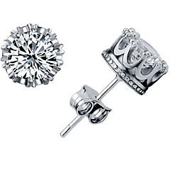 925 Sterling Silver Crown Earrings