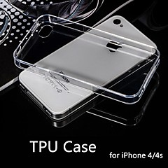 Hot Selling Ultra Thin Style Soft Flexible Transparent TPU Case for iPhone 4/4S (Assorted Colors)
