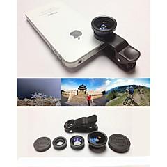 KLW 3 w 1 szerokokątny obiektyw / Obiektyw makro / 180 / obiektywu rybie oko zestaw dla iphone zestaw 5/6 / iPad i innych