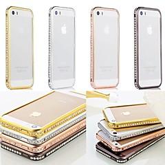 doopootoo ™ luksus bling krystal metal kofanger ramme tilfælde dække for iPhone 5 / 5s (assorterede farver)
