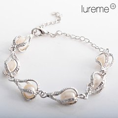 Lureme®Women's Water Drop Shaped Pearl Bracelet Jewelry Christmas Gifts