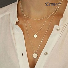 Eruner® Fashion (Sequins) Three Chain Alloy Pendant Necklace