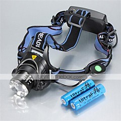 Lights Headlamps LED 1200 Lumens 3 Mode Cree XM-L T6 18650 Waterproof / RechargeableCamping/Hiking/Caving / Everyday Use / Cycling/Bike /