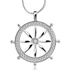 Women's Choker Necklaces Pendant Necklaces Statement Necklaces Silver Sterling Silver Zircon Cubic Zirconia Fashion White JewelryWedding