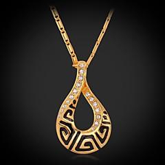 Dames Choker kettingen Hangertjes ketting Strass Verguld Modieus Kostuum juwelen Sieraden Voor Bruiloft Feest Dagelijks Causaal