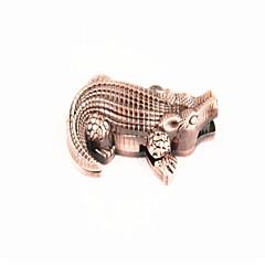 créative crocodile métallique briquets brun bronze