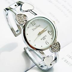 vrouwen ronde legering wijzerplaat band kwarts armband horloge (verschillende kleuren)