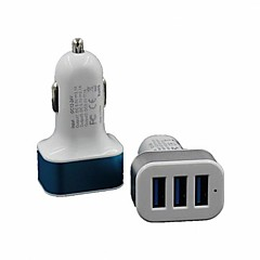 Universal 3 Port USB Car Charger Adapter for iPhone/iPad and Others (Assorted Colors)