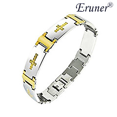 Eruner®Men's Golden Cross Titanium Steel Bracelet