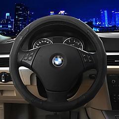 LEBOSH®New Sport Genuine Leather Steering Wheel Covers Non-slip Steering Wheel Covers 37-38CM